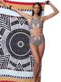 CueAir Love You So Halter One-piece Swimwear