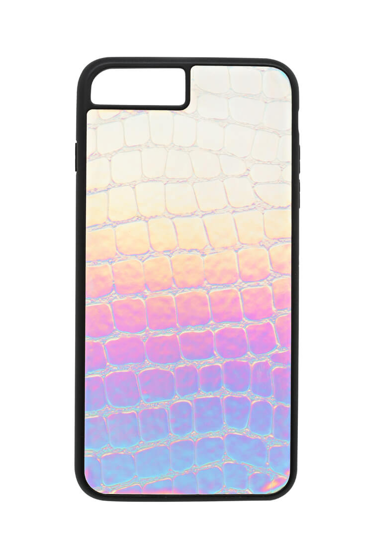 HOLOGRAPHIC CROC CASE