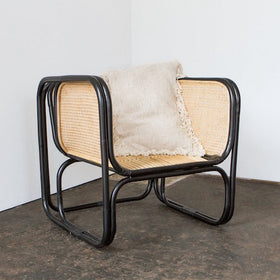 Wilbur Cane Chair Black