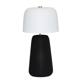 Veda Lamp- Black Base / White Shade