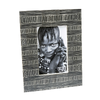 "Photo Frame 4x6"" - Black Bone With Tribal White Lines"
