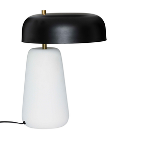 Juno Lamp - White Base / Black Shade