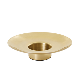 Pillar / Candle Holder D23cm x H5cm - Brass