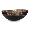 Organic Bowl H11cm D31cm - Ceramic Black & Gold