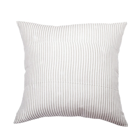 Linen Cushion 55cm - Grey Stripe