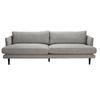Asher 3-seater - Firm, woven grey