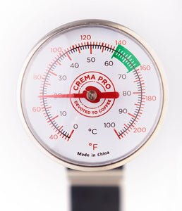 CREMA PRO Milk Thermometer. Acheive the perfect temperature while steaming your milk.