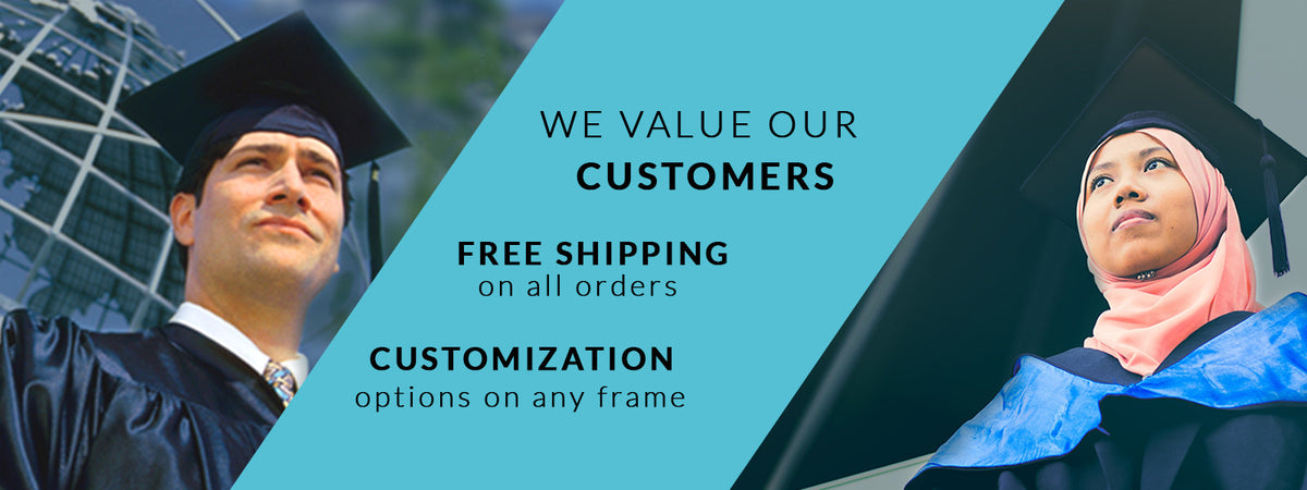 Free shipping and customizations options on all orders