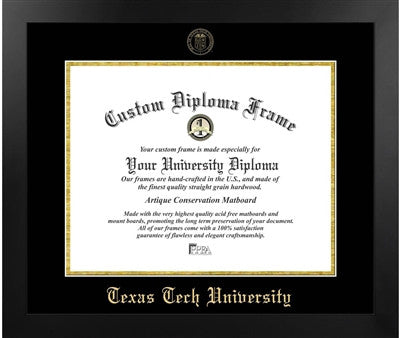 Modern Look, Satin Finish, Gold Trim, Embossed School Seal, Mahogany Wood Diploma Frame