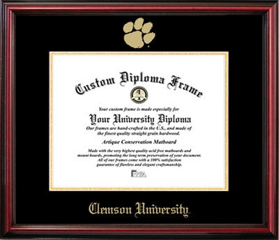 Clemson University Affordable Mahogany Diploma Frame