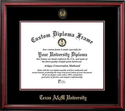 Affordable, Cherry Finish, Mahogany Wood Diploma Frame