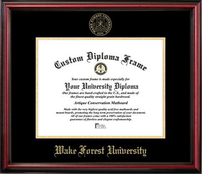 Wake Forest University Affordable Mahogany Diploma Frame