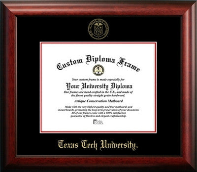 Texas Tech University Graduation Diploma Frame