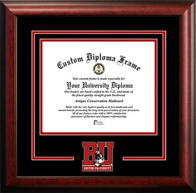 University Mascot, Satin Finish, School Pride, For the True Enthusiast, Mahogany Wood Diploma Frame