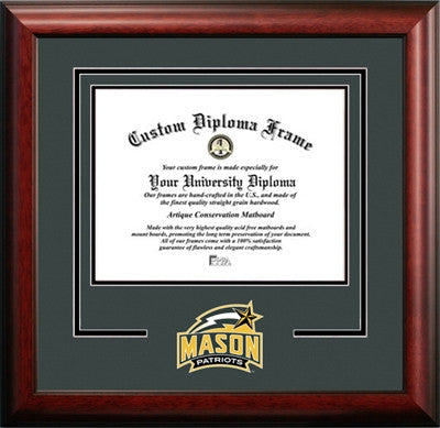 University Logo, Satin Finish, School Pride, For the True Enthusiast, Mahogany Wood Diploma Frame