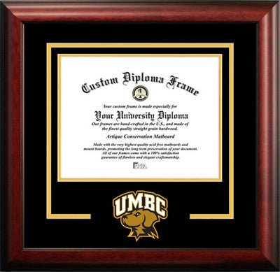 University Of Maryland Baltimore County Mascot Diploma Frame