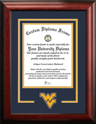 West Virginia University Diploma Frames