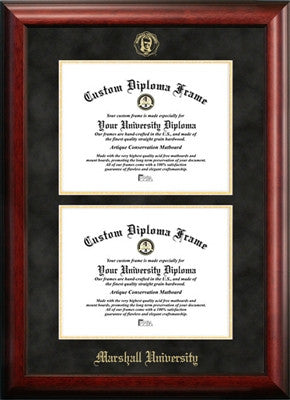 Marshall University Double Degree Diploma Frame