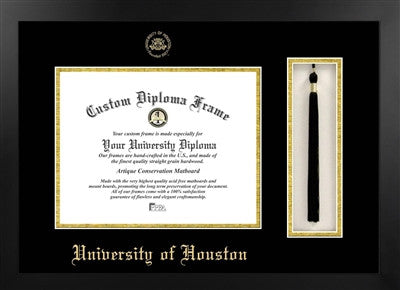 University of Houston Tassel Diploma Frame