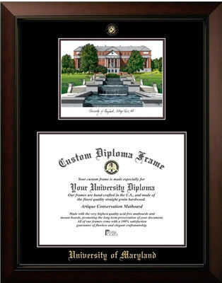 University of Maryland Campus Image Diploma Frame