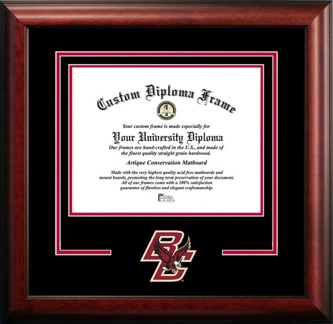 Boston College Mascot Diploma Frame