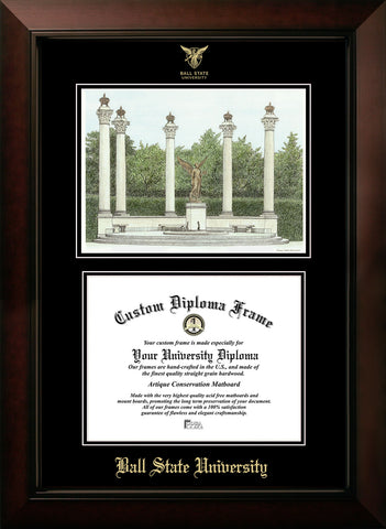 Ball State University Campus Image Diploma Frame