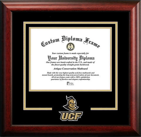 University of Central Florida Mascot Diploma Frame
