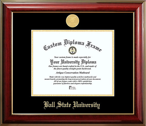 Ball State University Gold Medallion Diploma Frame