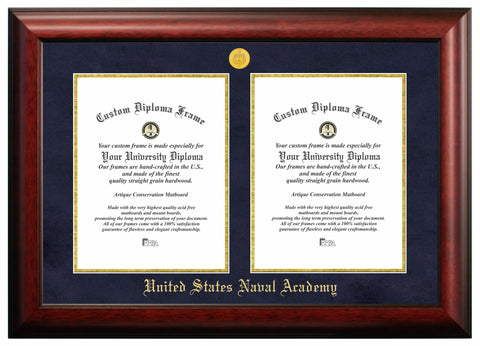 United States Naval Academy Double Degree Certificate Frame