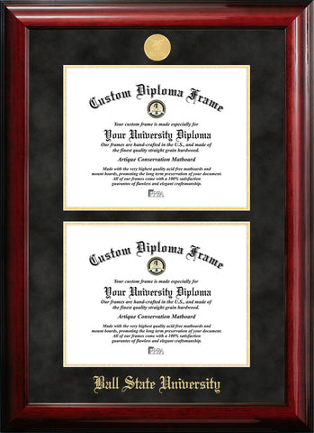 Ball State University Double Degree Diploma Frame