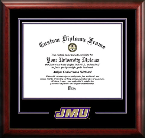 James Madison University Mascot Diploma Frame