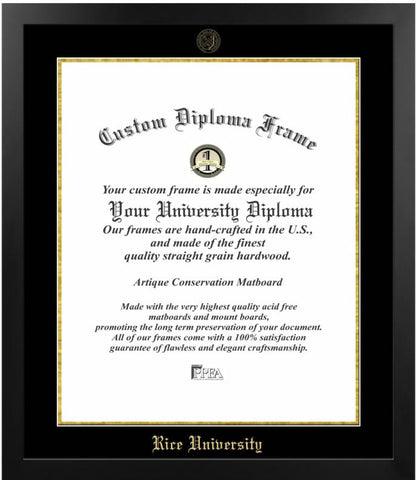 Rice University Most Popular Diploma Frame