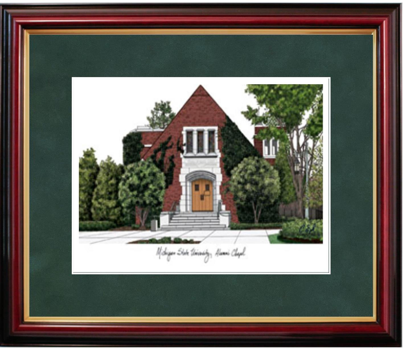 Contemporary Michigan State Diploma Frame Adornment - Framed Art ...