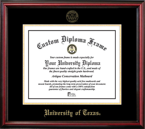 University of Texas Affordable Mahogany Diploma Frame