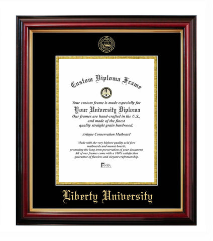 Liberty University Affordable Mahogany Diploma Frame