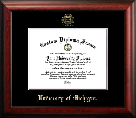 University of Michigan Graduation Diploma Frame
