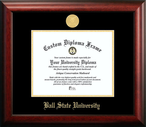 Ball State University Graduation Diploma Frame