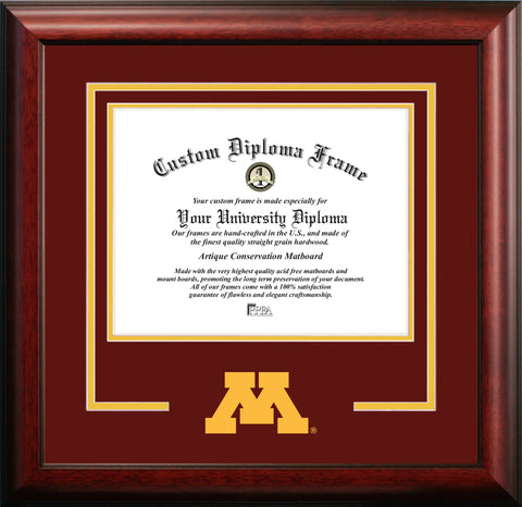 University of Minnesota Mascot Diploma Frame