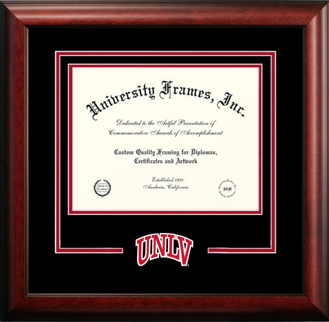University of Nevada Las Vegas Mascot Diploma Frame