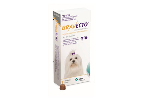 Bravecto for Small Dogs 2-4.5kg (4.4lb-9.9lb) 3 Chew Pack