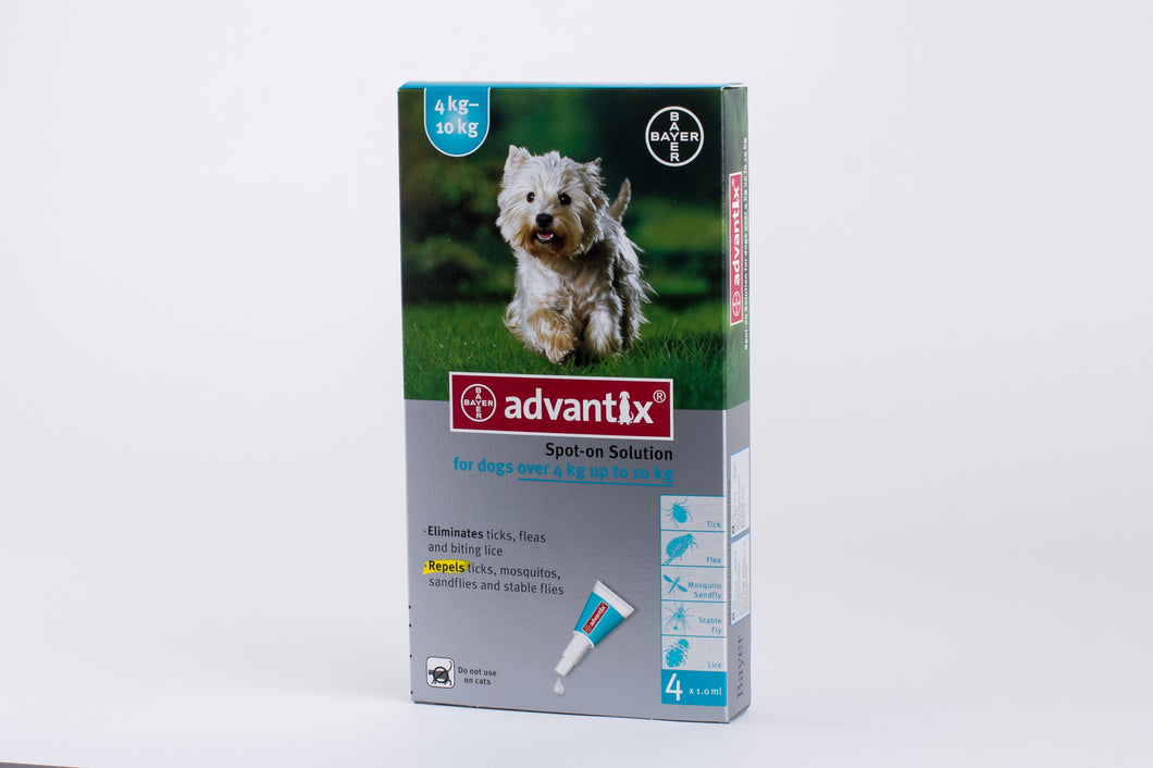 Advantix Dogs 4-10kg (8.8-22lb) 4 Pipettes