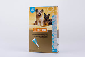 Advocate for Medium dogs 4-10kg 6pk (8.8-22lb) 6 Pipettes