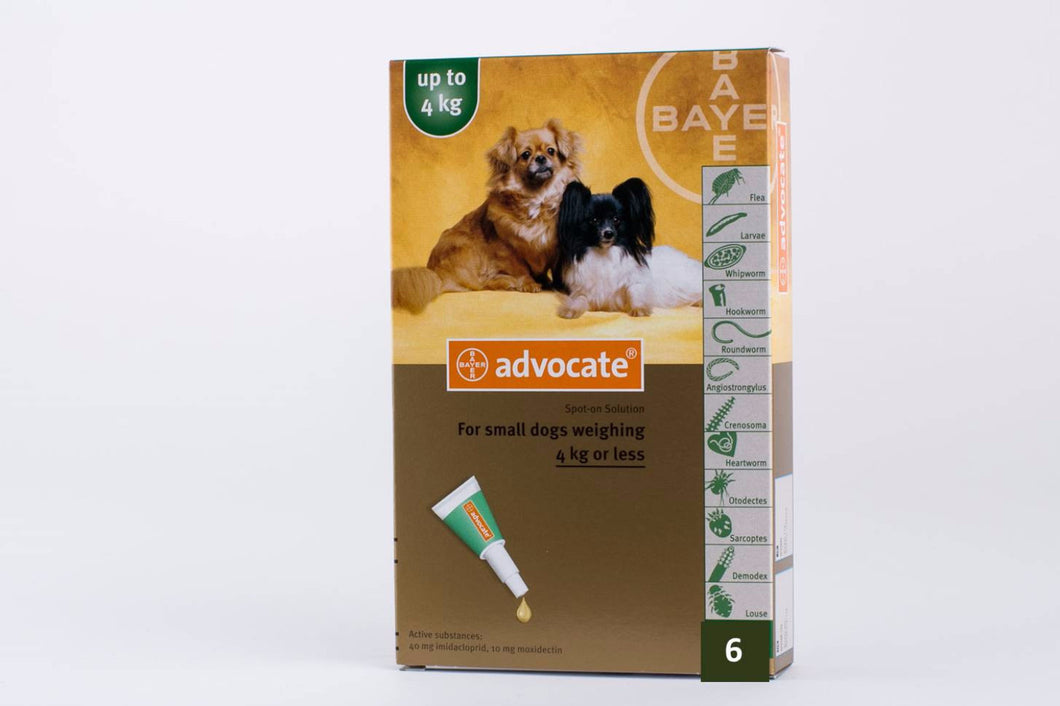 Advocate for Small Dogs under 4kg (8.8lb) 6 Pipettes