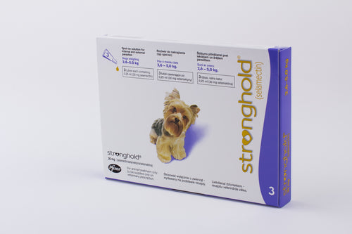 Stronghold Violet for Dogs 2.6-5kg (5-10lb) 3 Pipettes
