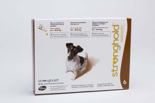 Stronghold Brown for Dogs 5.1-10kg (11-22lb) 6 Pipettes