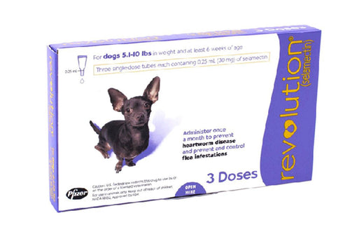 Revolution Purple for Small Dogs between 2.5-5kg (5-11.02lb) 3 Pipettes