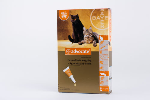 Advocate for Cats Under 4kg (8.8lb) 6 Pipettes