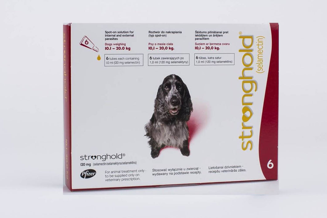Stronghold Red for Dogs 10.1-20kg (22-44lb) 6 Pipettes