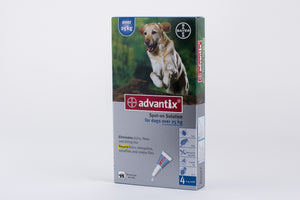 Advantix Dogs Over 25kg (55lb) 4 Pipettes
