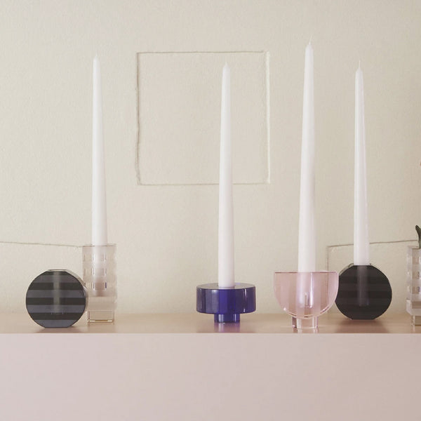 OYOY Graphic Candle Holder - Anthracite